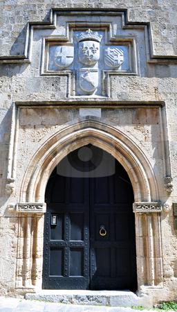 Old fortress door stock photo, Door in the Rhodes old town, Greece by Fernando Barozza
