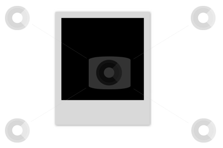 Empty photo frame stock photo, One blank polaroid film isolated on white by Laurent Dambies