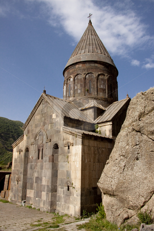 Old Geghard monastyr stock photo, Old beauty UNESCO object Geghard monastyr - Armenia. Summer day by Tomasz Parys