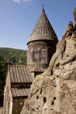 Old Geghard monastyr - Armenia stock photo, Old UNESCO object Geghard monastyr - Armenia summer day. by Tomasz Parys