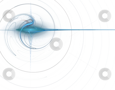 Blue swirl stock photo, Abstract background - swirl on white - illustration by J?