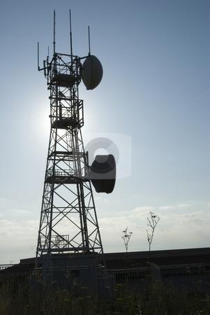 Radio trellis stock photo, The image shows the only one radio trellis at stromboli island. by Antonino Sicali