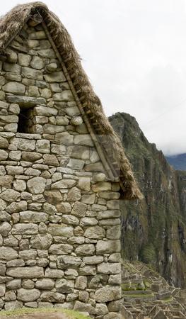 Guard house in Machu Picchu Peru stock photo, Guard house in Machu Picchu Peru by Sharron Schiefelbein