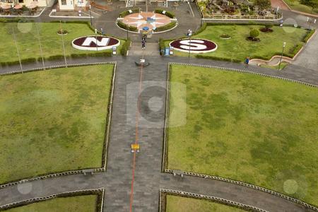 Equator line in Quito Ecuador stock photo, Equator line in Quito Ecuador by Sharron Schiefelbein