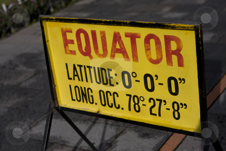 Equator sign in Quito Ecuador stock photo, Equator sign in Quito Ecuador by Sharron Schiefelbein