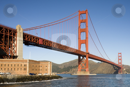 Golden Gate Bridge III stock photo, View of the golden gate bridge san francisco by Darren Pattterson