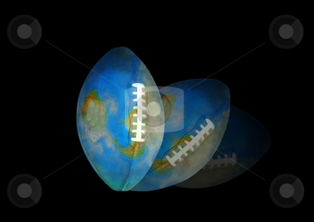 Earth - football falls down stock photo, The World of Football cants over on the ground... by Reinhart Eo