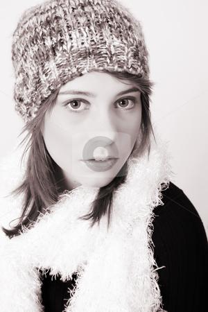Winter Teen stock photo, Beautiful young teenager wearing warm winter clothing by Vanessa Van Rensburg