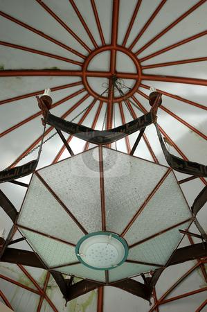 Masjid lamp stock photo, Hanging masjid lamp with beautifull chandler by Bayu Harsa
