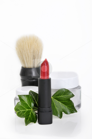 Care stock photo, Lipstick, Cream and shaving brush by Carmen Steiner