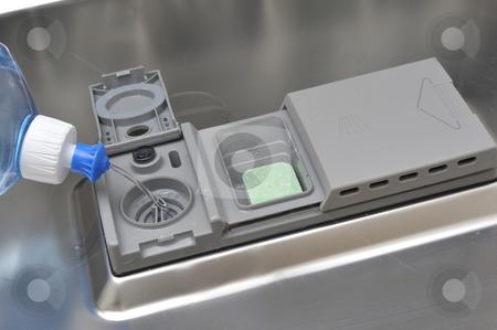 Detergent stock photo, Detergent in a dishwasher by Carmen Steiner