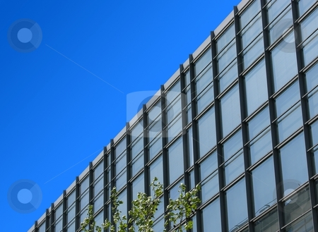 Office building and blue sky stock photo, Office building and blue sky by Robert Biedermann