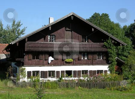 Traditional farmhouse in Bavaria stock photo, Traditional farmhouse in Bavaria by Robert Biedermann