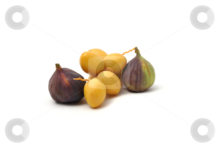 Fresh date fruits and figs stock photo, Fresh date fruits and figs by Robert Biedermann