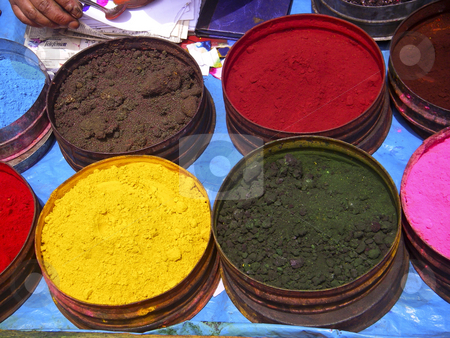 Nature coloring dyes in Cuzco Peru stock photo, Nature coloring dyes in Cuzco Peru by Sharron Schiefelbein
