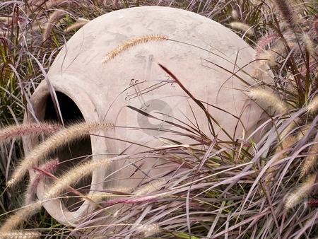 Pot found in tall grass in Peru stock photo, Pot found in tall grass in Peru by Sharron Schiefelbein