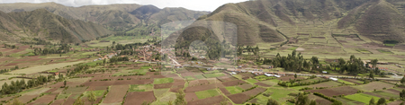Peru country side Panoramic stock photo, Peru country side Panoramic by Sharron Schiefelbein