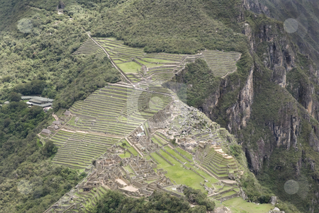 Overview of Machu Picchu, Peru stock photo, Overview of Machu Picchu, Peru by Sharron Schiefelbein