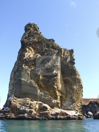 Rock pillar on the Galapagos Islands stock photo, Rock pillar on the Galapagos Islands by Sharron Schiefelbein