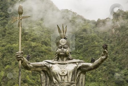 Inca God by Machu Picchu stock photo, Inca God by Machu Picchu by Sharron Schiefelbein