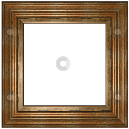 Wooden Frame stock photo, Old Picture Frame by Adam Radosavljevic