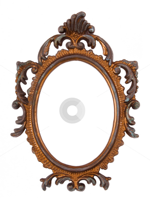 Retro Revival Old Ellipse Frame stock photo, Old Ovall Picture Frame on white background by Adam Radosavljevic