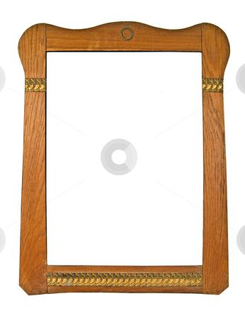 Retro Frame stock photo, Wood Frame on White Background by Adam Radosavljevic