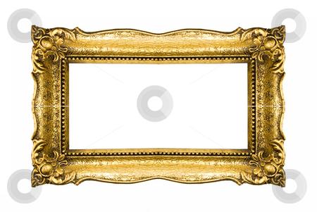 Gold Frame stock photo, Old Gold Frame Isolated On White Background by Adam Radosavljevic