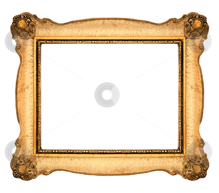 Picture Frame stock photo, Orange Old Frame by Adam Radosavljevic