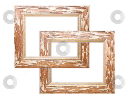 Optical Ilustion In Two Picture Frame stock photo, Old Picture Frame Isolated On White Background, Design Element by Adam Radosavljevic