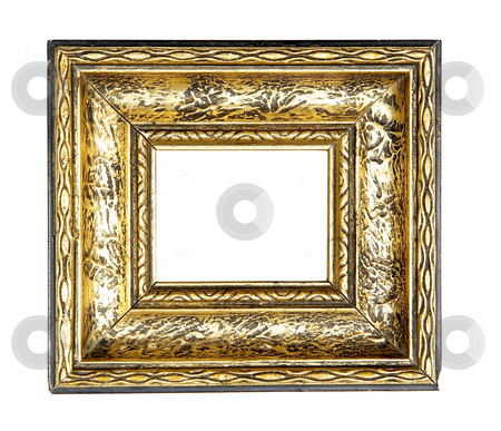 Gold Picture Frame stock photo, Old wood Picture Frame by Adam Radosavljevic