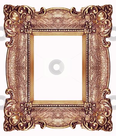 Golden Frame stock photo, Golden Frame isolated on white background, studio shot by Adam Radosavljevic