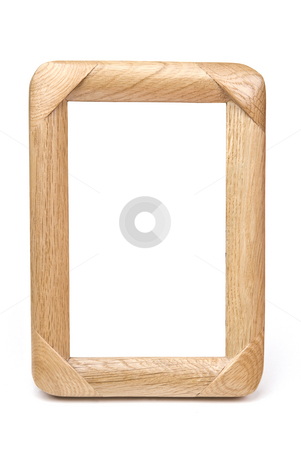 Wood Frame stock photo, Wood Frame on White Background by Adam Radosavljevic