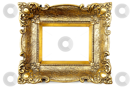 Picture Frame stock photo, Old Gold Picture Frame by Adam Radosavljevic