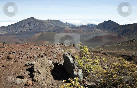 Haleakala stock photo, Looking into Haleakala, East Maui Volcano, a shield volcano on the Hawaiian Island of Maui, United States by mdphot