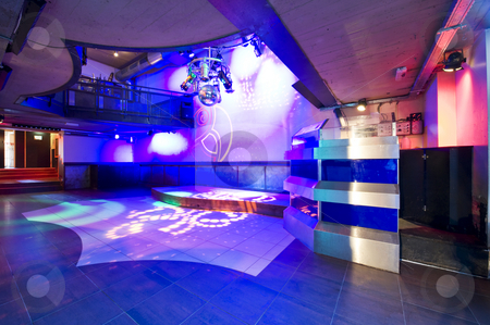 Nightclub interior stock photo, The interior of a hip and trendy nightclub by Corepics VOF