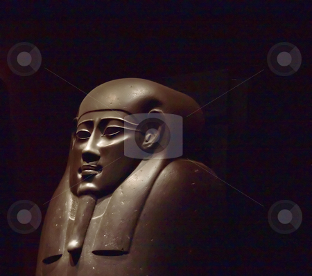 Egypt stock photo, Closeup of the face of an Egyptian Statue by Fabio Alcini