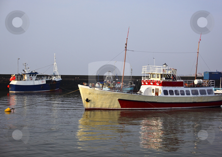 Boats in bridlington stock photo, Boats moored in bridlington harbour on yorkshires east coast by Mike Smith