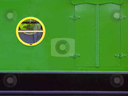Detail of a canal boat stock photo, Detail of a colorful canal boat in summer by Mike Smith