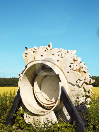 Mining relic stock photo, A mining relic on a cycleway in summer by Mike Smith