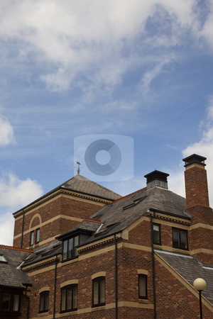 Modern luxury flats in york stock photo, A modern housing development of flats in the centre of york city by Mike Smith