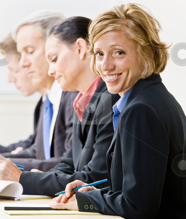 Business people in meeting stock photo, Business people in meeting by Jonathan Ross