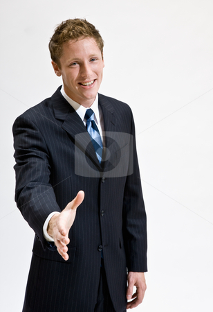 Businessman handshaking stock photo, Businessman handshaking by Jonathan Ross