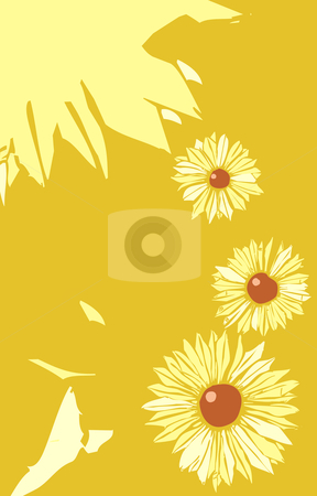 Flower Poster Layout stock vector clipart, Black Eyed Susan flowers in a tabloid layout. by Jeffrey Thompson