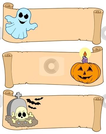 Halloween banners collection 1 stock vector clipart, Halloween banners collection 1 - vector illustration. by Klara Viskova