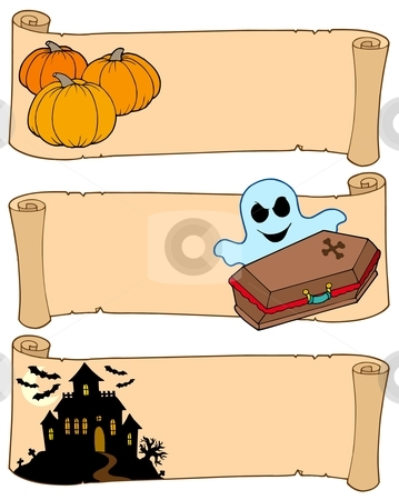 Halloween banners collection 2 stock vector clipart, Halloween banners collection 2 - vector illustration. by Klara Viskova