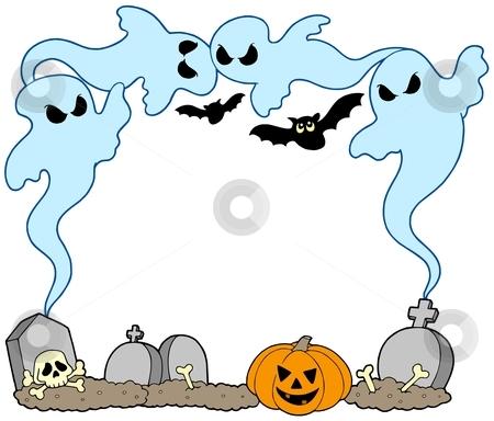 Ghost frame stock vector clipart, Ghost frame on white background - vector illustration. by Klara Viskova