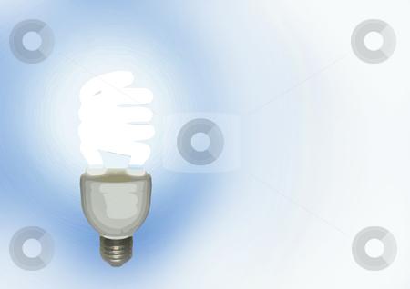 Lamp over white stock photo, Flaming blue light lamp on a white layer by Bernardo Varela