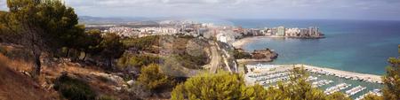 Oropesa del mar stock photo, Panoramic of Oropesa del mar in Castellon,Spain by Bernardo Varela
