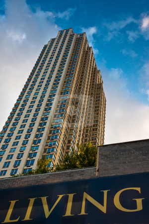 New, New Jersey stock photo, A new highrise apartment building in Jersey City, NJ. by Tyson Koska